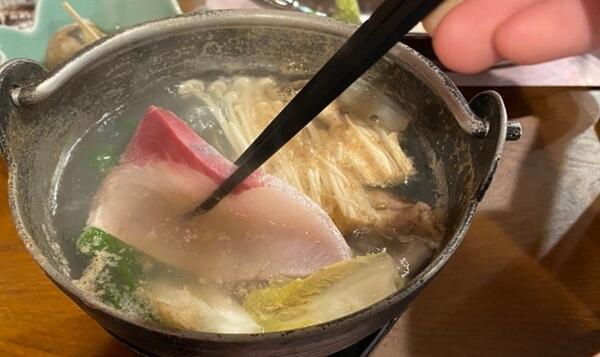 割烹丸庄本田のブリしゃぶ鍋