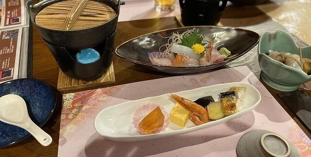 割烹丸庄本田の定食