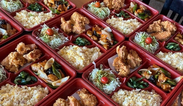 金盛園の中華料理弁当