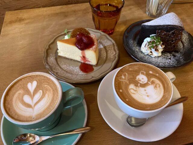 ミクトのケーキやコーヒー