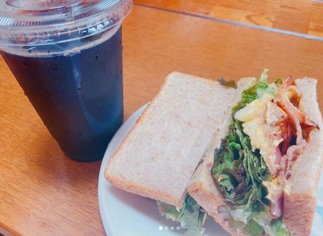むさしの森珈琲のサンドイッチ