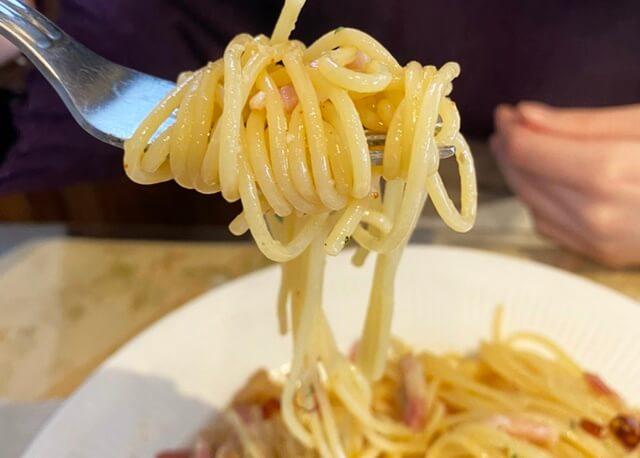 ブラッセリエのパスタ、麺