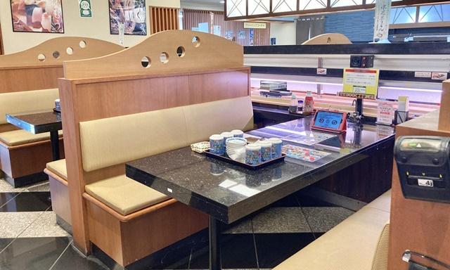 氷見 きときと寿し 婦中有沢店のテーブル席