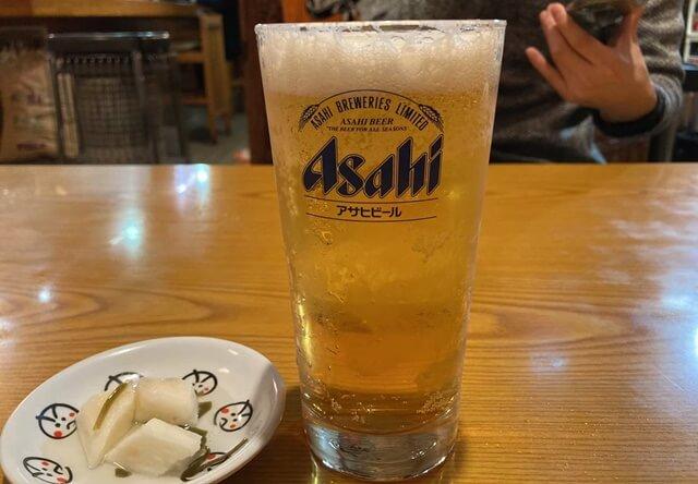 娘娘餃子のビール