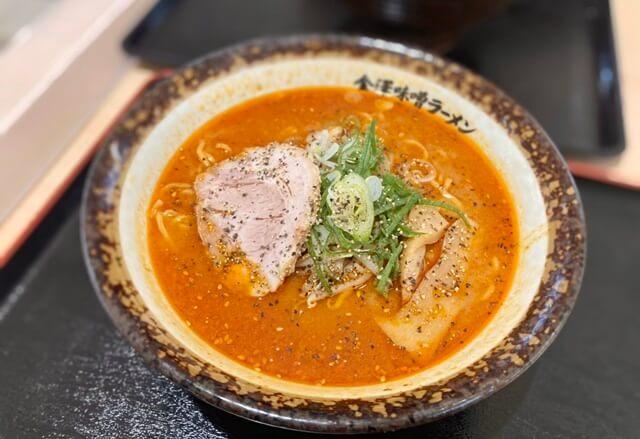 神仙ファボーレ富山店の辛味噌ラーメン