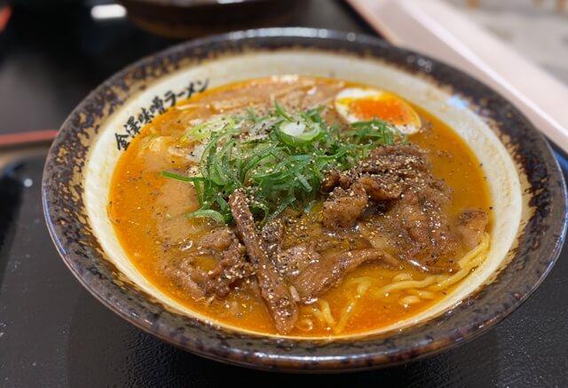 神仙ファボーレ富山店の味噌ラーメン