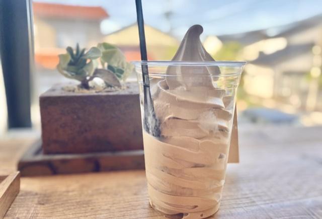 アルパカコーヒー太郎丸のコーヒーソフトクリーム