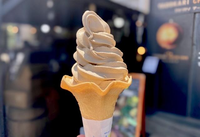 モカモカ ソフトクリームのソフトクリーム
