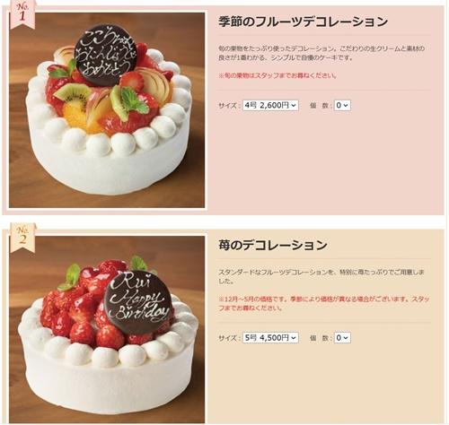 ぷちロールのホールケーキ