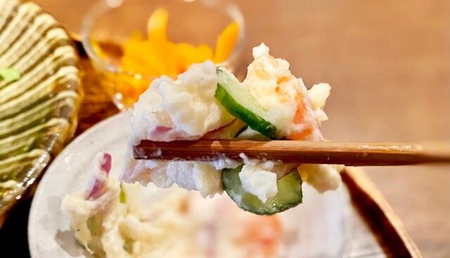 山元食堂の日替わりランチのサラダ