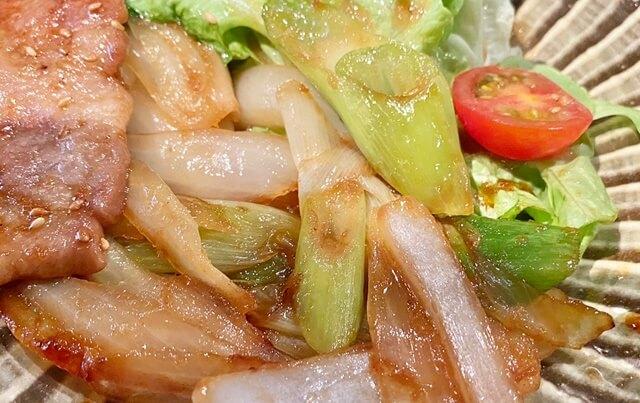 山元食堂の日替わりランチの野菜炒め
