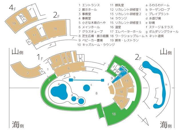 氷見海浜植物園のマップ