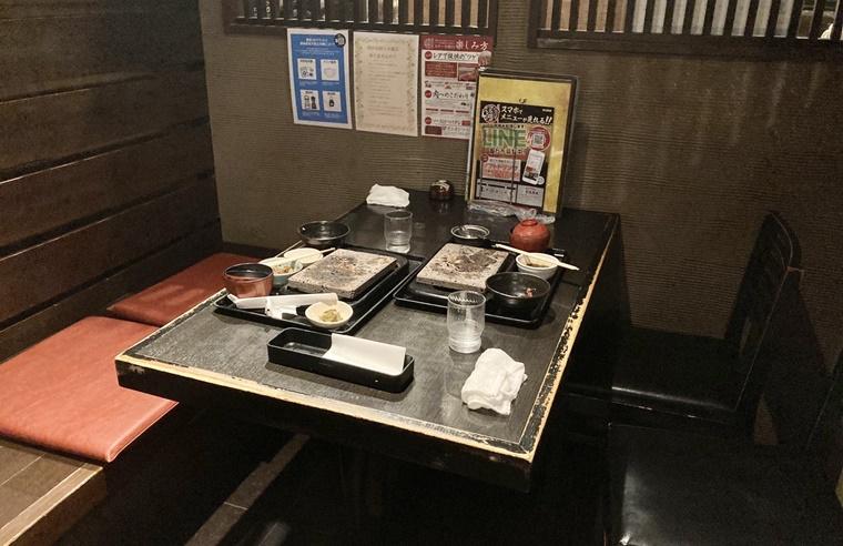 ステーキ 贅 山室店のテーブル席
