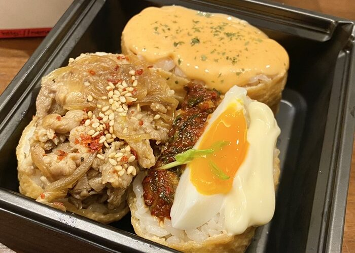 テジカエン東中野店の韓国いなり寿司のテイクアウト