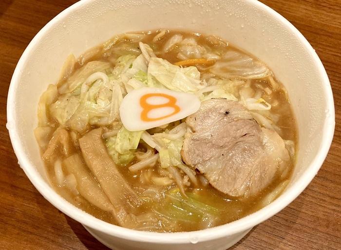 8番ラーメン富山安養寺店のテイクアウトの味噌ラーメン