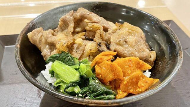 肉のヤマキ商店 ファボーレ富山店のカルビ焼肉丼